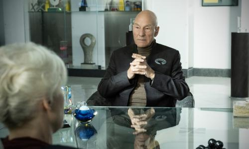 Star Trek: Picard review – Patrick Stewart goes guerrilla in skintight velour