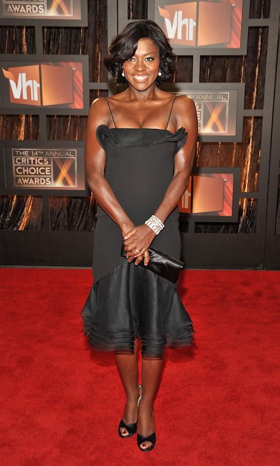 "<a href=""http://movies.yahoo.com/movie/contributor/1800315745"">Viola Davis</a> at the 14th Annual Critics' Choice Awards in Santa Monica - 01/08/2009"