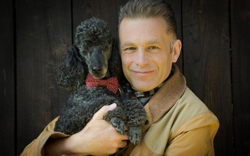 Chris Packham with his dog Scratchy - Credit: The Big Tick Project