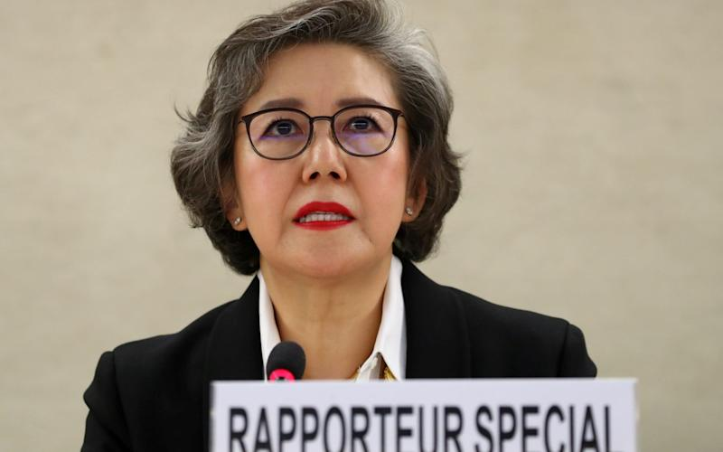 Yanghee Lee said she left in her UN human rights role in despair at ongoing atrocities in Myanmar - Denis Balibouse/Reuters