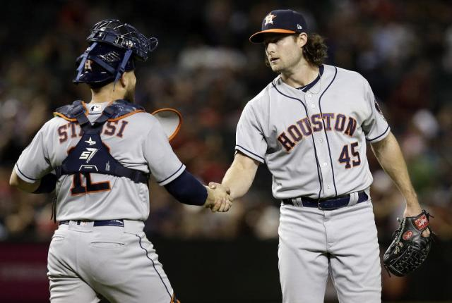 Gerrit Cole has proven to be an excellent addition to the Astros already dominant starting rotation. (AP)