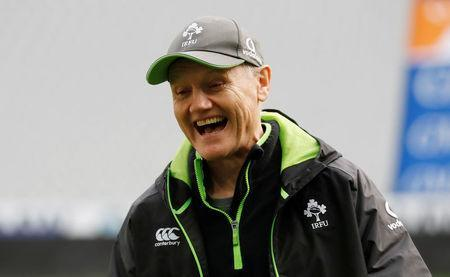 FILE PHOTO - Rugby Union - Ireland Captain's Run - Stade de France Stadium, Saint-Denis, France - February 2, 2018 Ireland head coach Joe Schmidt during the captain's run REUTERS/Gonzalo Fuentes