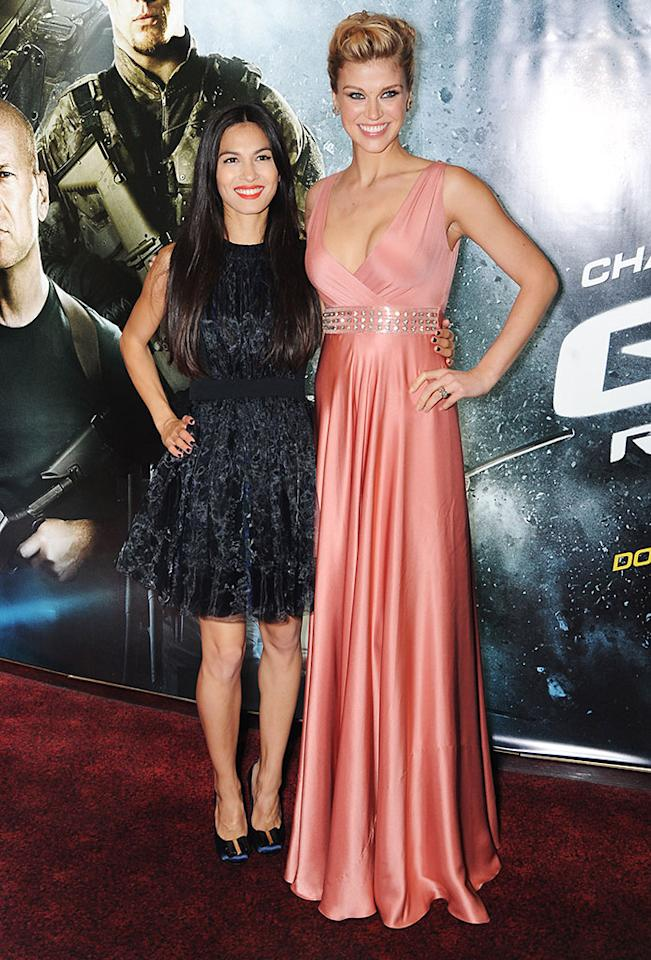 Elodie Yung and Adrianne Palicki attend the UK premiere of 'G.I. Joe: Retaliation' at The Empire Leicester Square on March 18, 2013 in London, England.