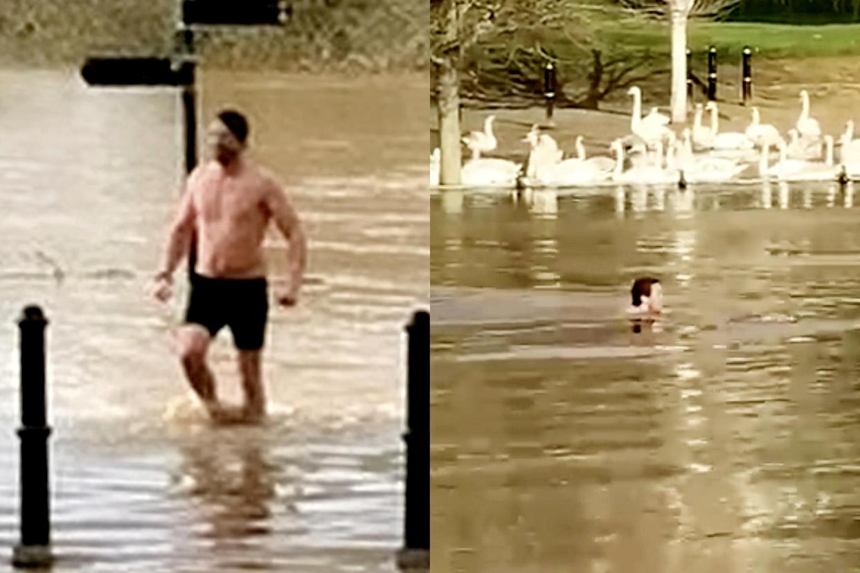 A man was fined £200 after travelling to swim in the River Severn. (SWNS)