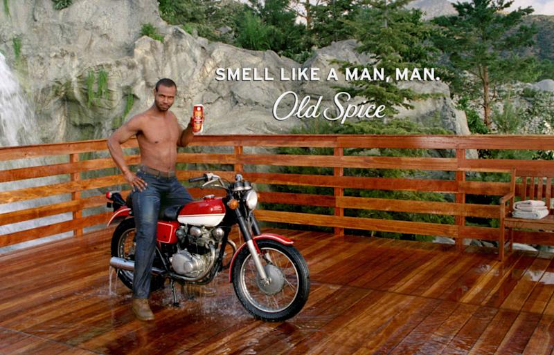"In this publicity image from video released by Procter & Gamble Co., actor Isaiah Mustafa is shown in a scene from the ""Smell Like a Man"" ad campaign for Old Spice. (AP Photo/Procter & Gamble Co.) NO SALES"