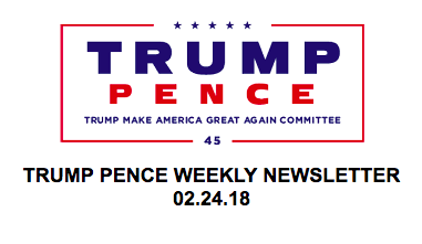 (Screenshot/Trump Pence Newsletter)