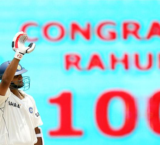 <b>Some more milestones!</b> 'Jammy' also became the third Indian after Sachin Tendulkar (39 hundreds in 147 Tests) and Sunil Gavaskar (34 hundreds in 125 Tests) and the 12th batsman overall to score 25 centuries in Test cricket. He also became the first batsman to play 150 innings while batting at No 3.<i> Photo: Getty Images</i>
