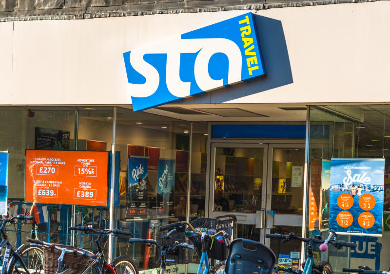 STA Travel agents on Sussex St, Cambridge, England, UK. STA claims to be the world's largest travel company for students and young people. (Photo by: Andrew Michael/Education Images/Universal Images Group via Getty Images)