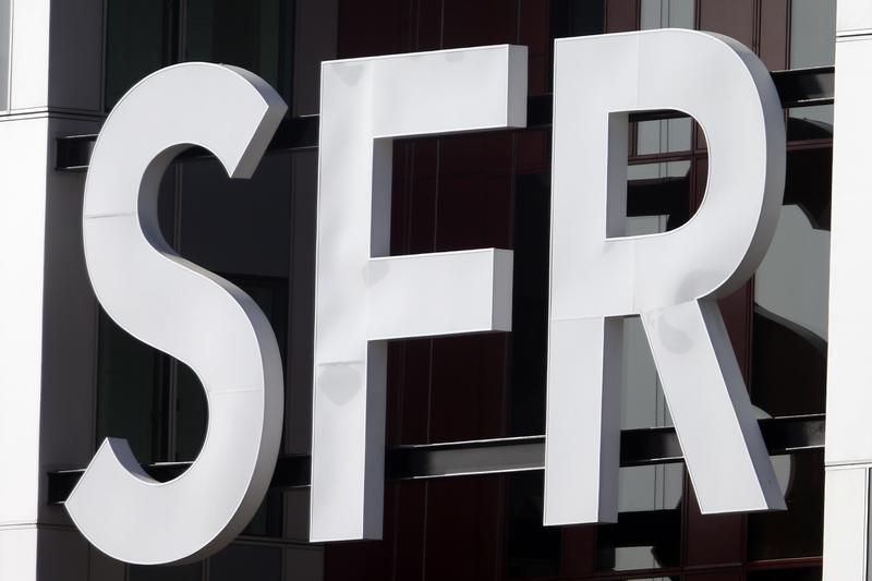 General view of French telecom operator SFR's headquarters in Saint-Denis near Paris