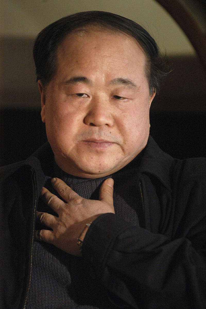 In this photo taken Tuesday, Dec. 27, 2005, Chinese writer Mo Yan listens during an interview in Beijing. Mo won the Nobel Prize in literature on Thursday, Oct. 11, 2012. (AP Photo) CHINA OUT