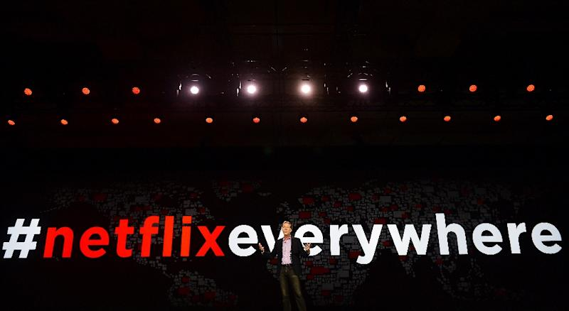 Netflix will open a New York production hub as part of its efforts to ramp up its original programming (AFP Photo/ROBYN BECK)
