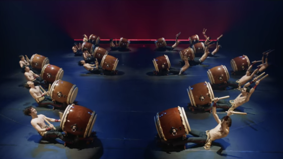 The most interesting is Fu-kkin Taiko, which literally means abs drums. (Screenshot: Netflix)