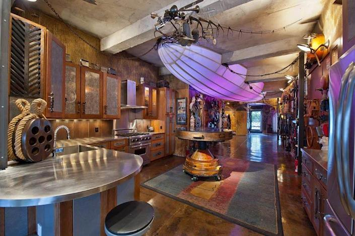 Steampunk themed apartment in New York.