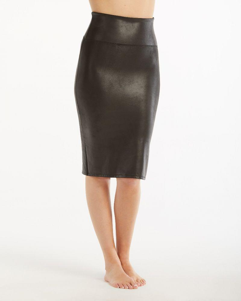Faux Leather Pencil Skirt. Image via Spanx.