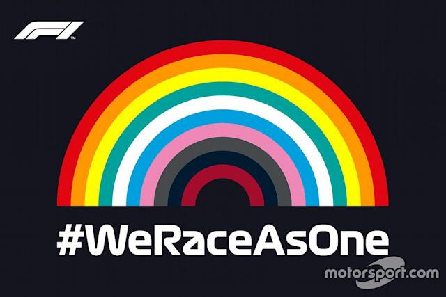 "Iniciativa #WeRaceAsOne <span class=""copyright"">Liberty Media</span>"