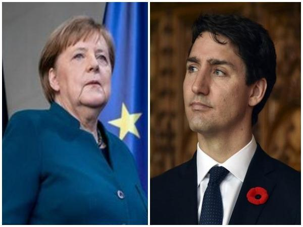 German Chancellor Angela Merkel and Canadian Prime Minister Justin Trudeau