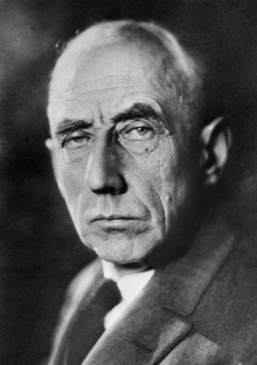 <p>Norwegian explorer of the polar regions Roald Amundsen (1872-1928). He was the first person to reach the South Pole. Amundsen disappeared in 1928 while flying a rescue mission in the Arctic.</p>