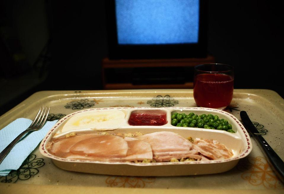 <p>Most of us still occasionally eat in front of the tube. But do we do it in style, on molded plastic trays perfectly sized to hold our TV dinners? </p>