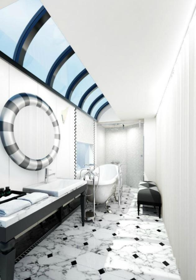 Who would have thought a train bathroom could be so luxe?