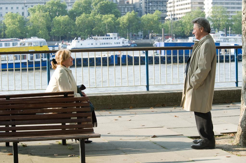 """<a href=""""http://movies.yahoo.com/movie/contributor/1800024072"""">Emma Thompson</a> and <a href=""""http://movies.yahoo.com/movie/contributor/1800014129"""">Dustin Hoffman</a> in Overture Films' <a href=""""http://movies.yahoo.com/movie/1809942736/info"""">Last Chance Harvey</a> - 2008"""