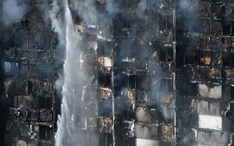 Grenfell Tower, in west London, has been destroyed by fire - EPA