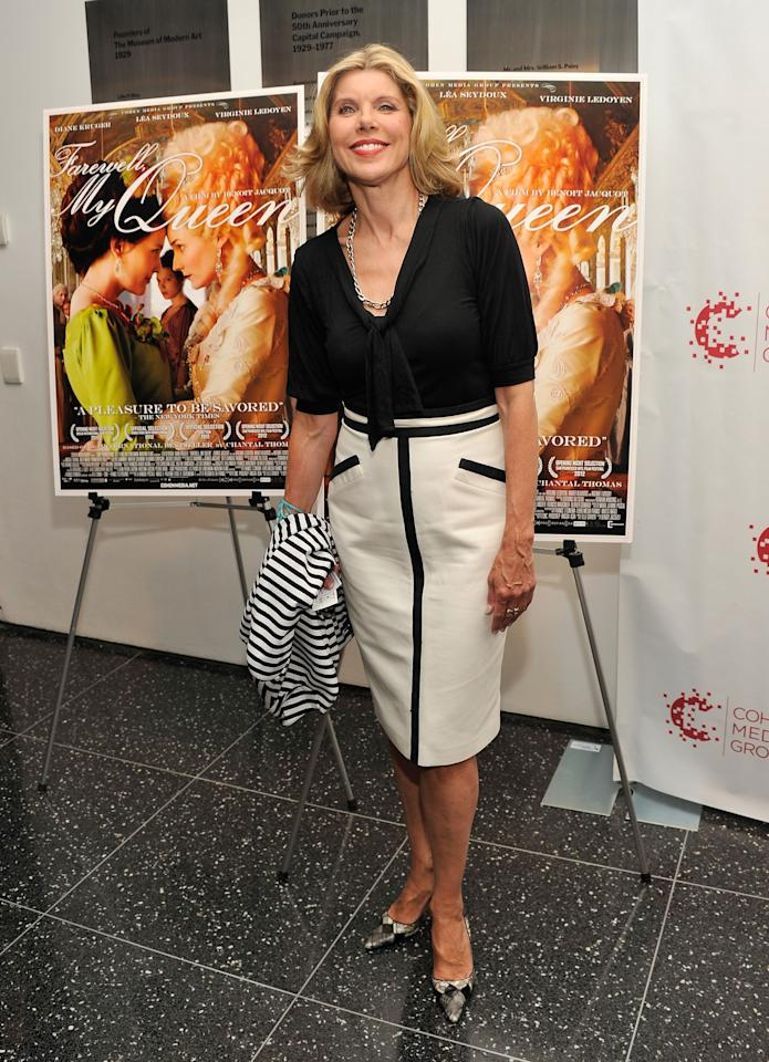 """NEW YORK, NY - JULY 09:  Actress Christine Baranski attends the """"Farewell, My Queen"""" New York Screening at MOMA on July 9, 2012 in New York City.  (Photo by Stephen Lovekin/Getty Images)"""