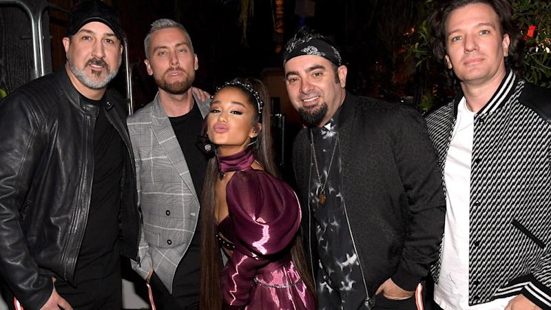 """Ariana Grande Brought Out *NSYNC at Coachella 2019 to Perform """"Tearin' Up My Heart"""" and More"""
