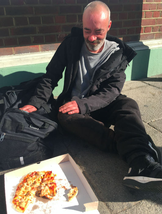 <em>The rough sleeper has been given accommodation for the week by the council by the council following the incident (SWNS)</em>