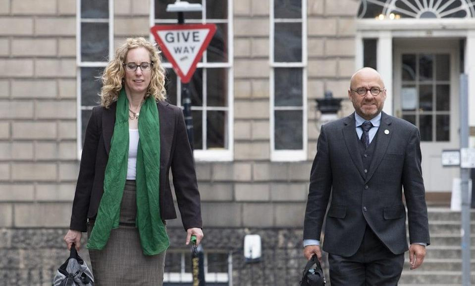 Lorna Slater and Patrick Harvie are co-leaders of the Scottish Greens (Lesley Martin/PA) (PA Wire)