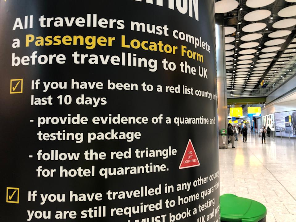 Tricky times: a UK border force sign at Heathrow Terminal 5 (Simon Calder)