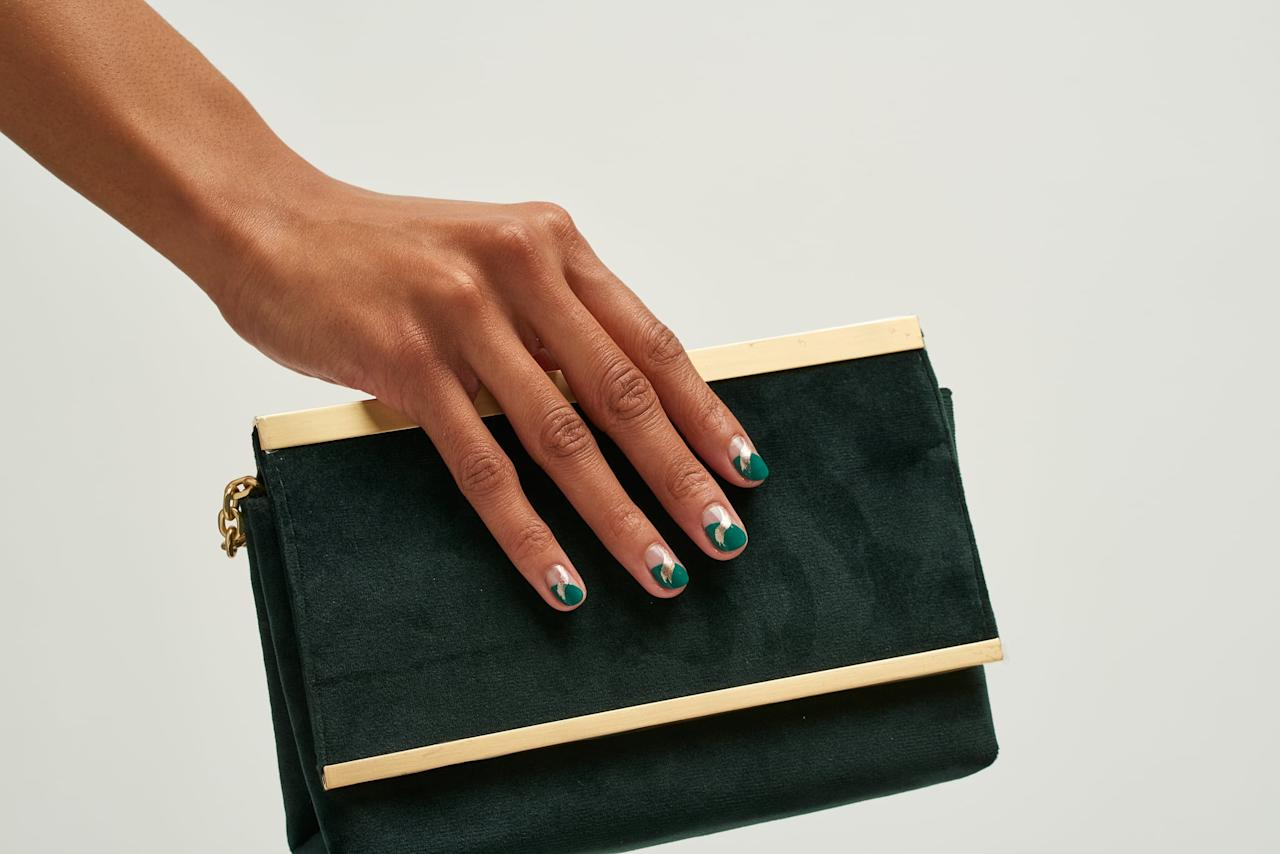 """<p>""""We're loving soft metallic brushstrokes across nails,"""" Langston said. """"The design adds a subtle luminosity to your fingertips that catches your eye.""""</p> <p>There are a few different iterations of the nail art trend you could try. First, you could do the brushstroke over a sheer nail (for a few examples, keep scrolling). Or """"you could do a negative-space look with a sheer milky tone - that would be beautiful,"""" she said. """"You just slowly drag the <a href=""""https://www.popsugar.com/beauty/Best-Metallic-Nail-Polish-46481480"""" class=""""ga-track"""" data-ga-category=""""Related"""" data-ga-label=""""https://www.popsugar.com/beauty/Best-Metallic-Nail-Polish-46481480"""" data-ga-action=""""In-Line Links"""">metallic polish</a> horizontally across your nails, fluttering the brush up when you reach halfway for a brushstroke effect. The key is to have <em>very</em> minimal polish on the brush.""""</p>"""