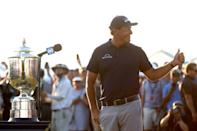 Thumbs up for Phil Mickelson