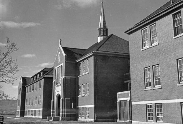 The main administrative building of the Kamloops Indian Residential School is pictured in 1970.