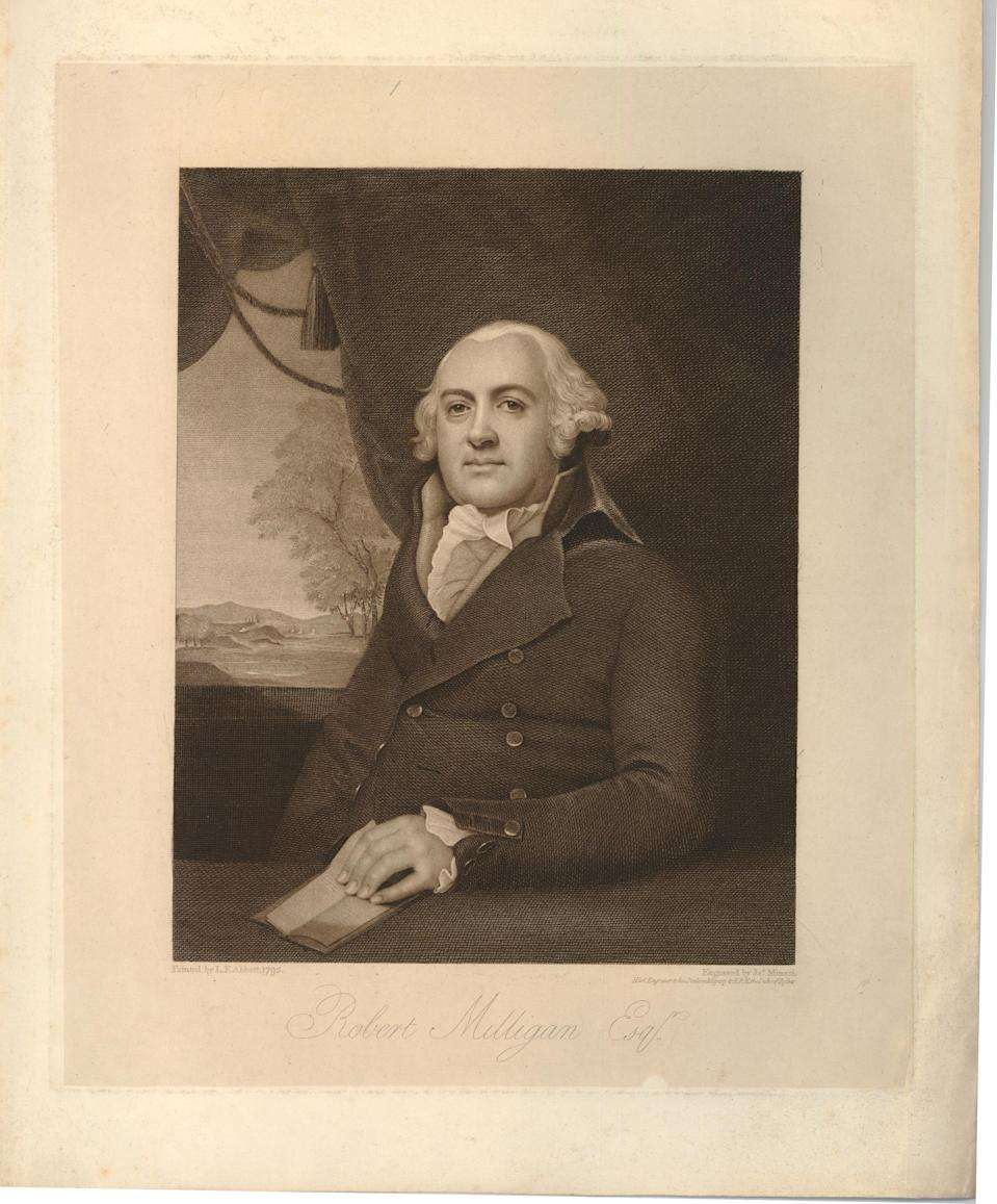 Robert Milligan (1746–1809). Print by James Anthony Minasi after Lemuel Francis Abbott. (© The Trustees of the British Museum)