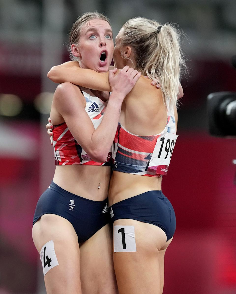 Keely Hodgkinson was stunned after coming second place in the 800 metres (Martin Rickett/PA) (PA Wire)