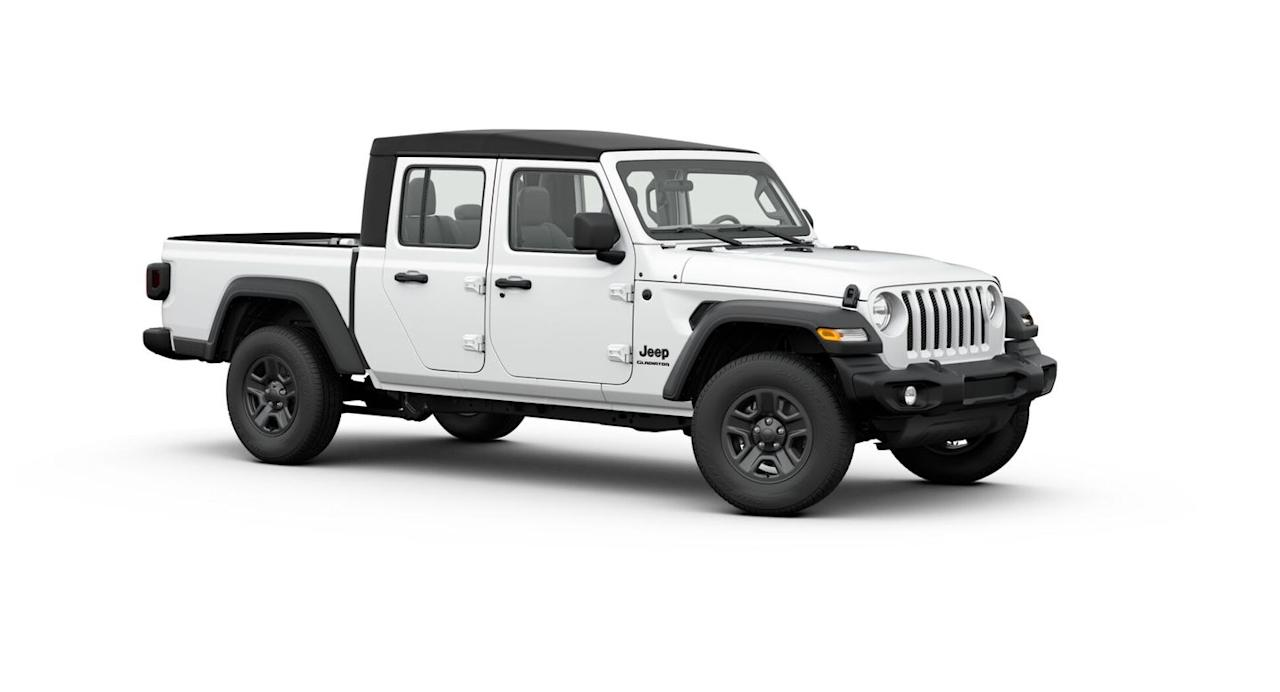 "<p><strong>Configuration: </strong>Sport trim level, extended cab, 4x4</p><p>Mopar announced this year the <a href=""https://www.caranddriver.com/jeep/gladiator"" target=""_blank"">Jeep Gladiator</a> is their most accessorized model, with over 200,000 ways to make it unique. The Gladiator comes with one engine option, a 285-hp 3.6-liter V-6, one four-door cab layout, and a 5-foot bed. Although with a little creativity, some sharp saw blades, and a basic ratchet set, the possibilities are endless. In base trim the Gladiator Sport is equipped with a six-speed manual transmission, standard 3.73 axle ratios, and black 17-inch steel wheels. The Wrangler gone pickup surpasses even its larger full-size rivals in price, but can also tow up to 7,650 pounds when optioned properly, which is big-truck territory. </p>"