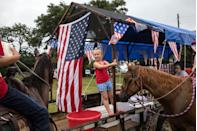 """<p><strong>Round Top, Texas</strong></p><p>Watch the fireworks display and wave American flags at the annual Round Top 4th Of July celebration in Round Top, Texas. The <a href=""""https://www.exploreroundtop.com/fourthofjuly/"""" rel=""""nofollow noopener"""" target=""""_blank"""" data-ylk=""""slk:Round Top"""" class=""""link rapid-noclick-resp"""">Round Top</a> community's Fourth of July celebration started in 1851 and is known as the longest running Independence Day celebration west of the Mississippi.<br></p>"""