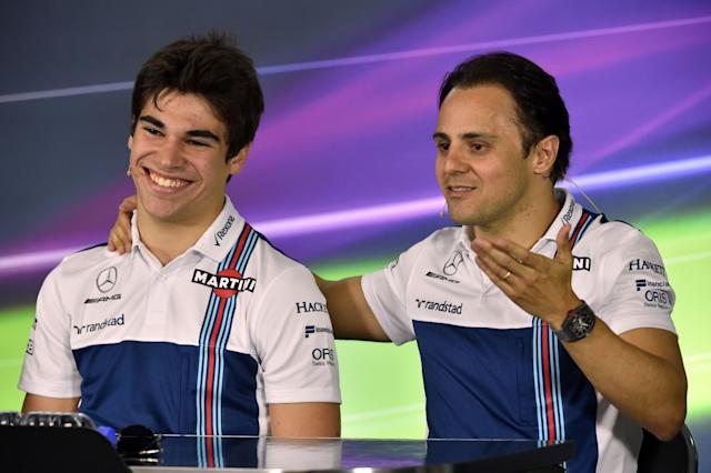 Lance Stroll and Felipe Massa