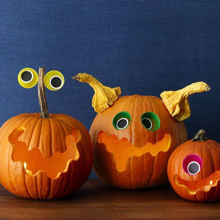 "<p>Bring these space monsters to life by using hot glue and leftover Easter eggs.</p><p><em><strong><a href=""https://www.womansday.com/home/crafts-projects/a28712616/spacey-monsters-pumpkins/"" rel=""nofollow noopener"" target=""_blank"" data-ylk=""slk:Get the Spacey Monsters Pumpkins tutorial."" class=""link rapid-noclick-resp"">Get the Spacey Monsters Pumpkins tutorial.</a></strong></em></p>"