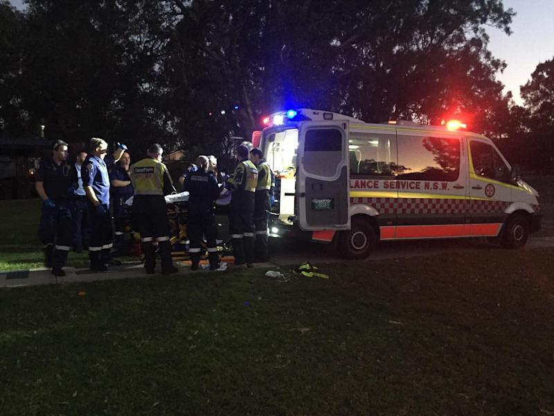 CareFlight, NSW Police and NSW Ambulance all attended the accident scene. Source: CareFlight