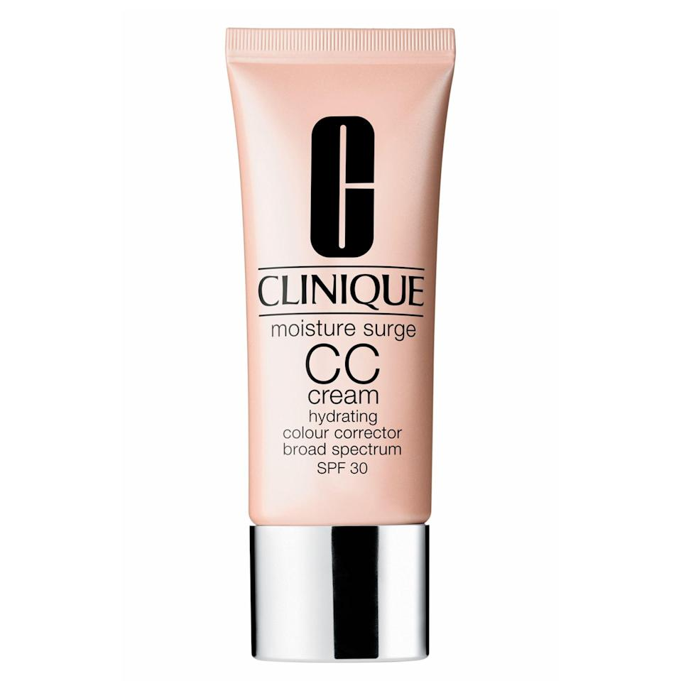 """<p><strong>Clinique</strong></p><p>nordstrom.com</p><p><strong>$39.50</strong></p><p><a href=""""https://go.redirectingat.com?id=74968X1596630&url=https%3A%2F%2Fshop.nordstrom.com%2Fs%2Fclinique-moisture-surge-cc-cream-hydrating-colour-corrector-broad-spectrum-spf-30%2F3485725&sref=https%3A%2F%2Fwww.goodhousekeeping.com%2Fbeauty-products%2Fg30611666%2Fbest-cc-cream%2F"""" rel=""""nofollow noopener"""" target=""""_blank"""" data-ylk=""""slk:Shop Now"""" class=""""link rapid-noclick-resp"""">Shop Now</a></p><p>This CC cream <strong>promises moderate coverage with a natural finish.</strong> It has over 800 reviews with a 4.2 rating at Clinique and shoppers like that it's lightweight but easy to build up coverage. You can use it as a spot treatment, mix it with your go-to moisturizer for a super-sheer wash of color or wear it alone. </p>"""