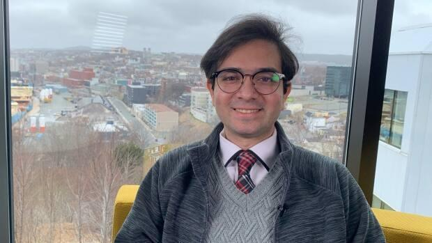 When the pandemic began, graduate student Saman Bazmi didn't leave Memorial University's Signal Hill campus for 32 days.