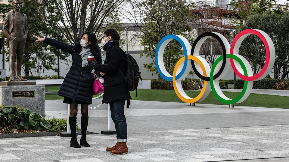 Speculation continued to mount as to whether the Japanese government will call off the 2021 Tokyo Olympics. (Photo by Carl Court/Getty Images)