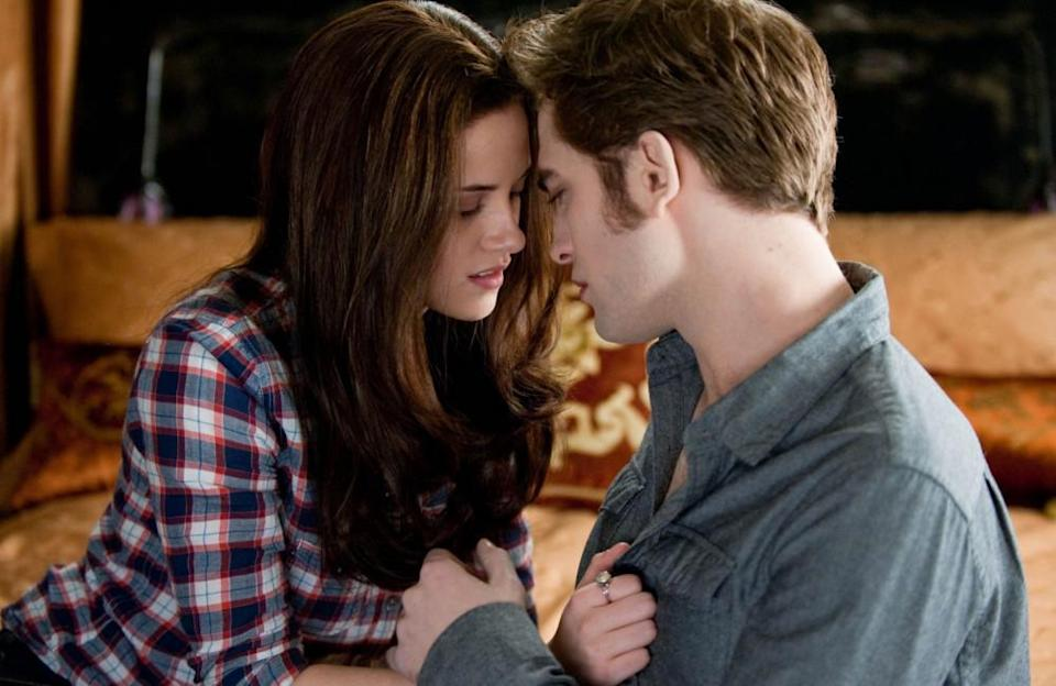 'Twilight' has seen many a memorable on screen smooch. The series stars Kristen Stuart as the pale and at first, seemingly average Bella Swan and Robert Pattinson as equally pale but passionate vampire, Edward Cullen. It's even rumoured that 'Fifty Shades of Grey' was based on the characters of Bella and Edward.