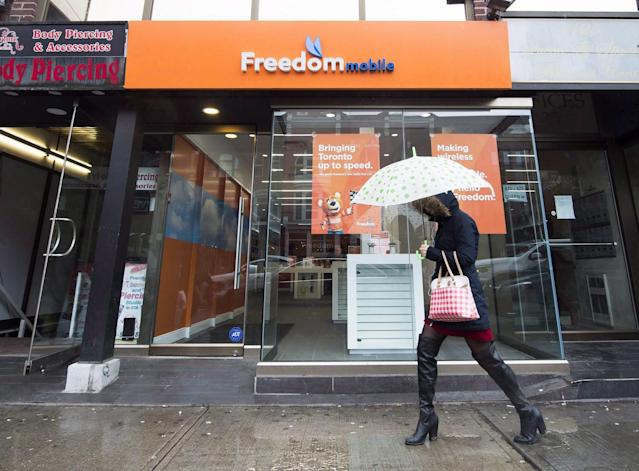 <p>No. 5: Freedom Mobile<br>Rating: 757<br>(THE CANADIAN PRESS/Nathan Denette) </p>