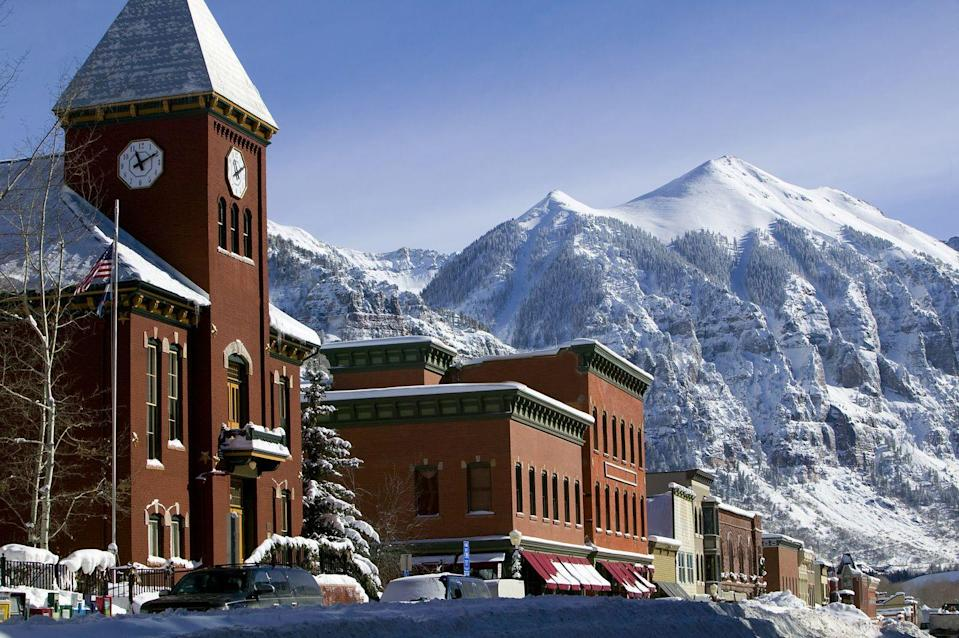 <p>Getting to Telluride on a scenic drive from the airport is almost as good as being there. These breathtaking mountain vistas are home to some amazing terrain skiing, and the downtown is filled with historic hotels and luxury retreats.</p>