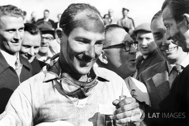 """Stirling Moss, Vanwall <span class=""""copyright"""">LAT Images</span>"""