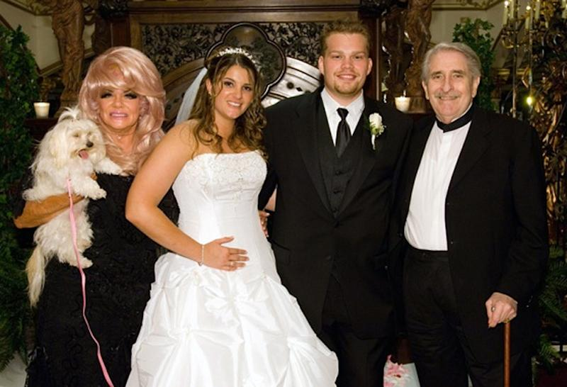 This image provided by Brittany Koper shows, from left, Janice Crouch, Brittany Koper, Michael Koper, and Paul Crouch Sr., in an undated photo. Televangelists Paul and Jan Crouch have faced plenty of mountains building their religious broadcast empire _ among them allegations of a homosexual tryst and a prolonged battle with the FCC _ but the most recent attack on the founders of Trinity Broadcasting Network comes from their own flesh and blood. Their granddaughter, Brittany Koper, recently filed court papers that include allegations of $50 million in financial shenanigans at the world's largest Christian broadcasting network.   (AP Photo/Brittany Koper)