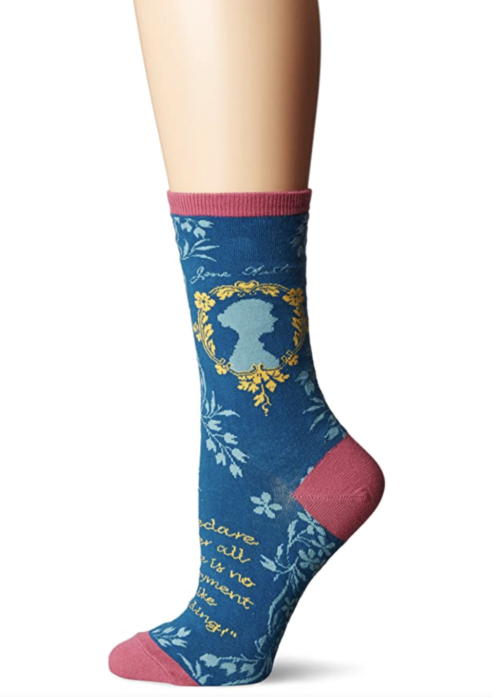 """<p><strong>Socksmith</strong></p><p>amazon.com</p><p><strong>$8.00</strong></p><p><a href=""""https://www.amazon.com/dp/B01HWVLE0O?tag=syn-yahoo-20&ascsubtag=%5Bartid%7C10072.g.34373773%5Bsrc%7Cyahoo-us"""" rel=""""nofollow noopener"""" target=""""_blank"""" data-ylk=""""slk:SHOP NOW"""" class=""""link rapid-noclick-resp"""">SHOP NOW</a></p><p>For the college student majoring in English Lit, a cozy pair of socks to see her through all those classic novels. </p>"""