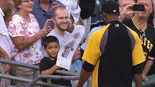 Young fan's sweet gesture to Starling Marte